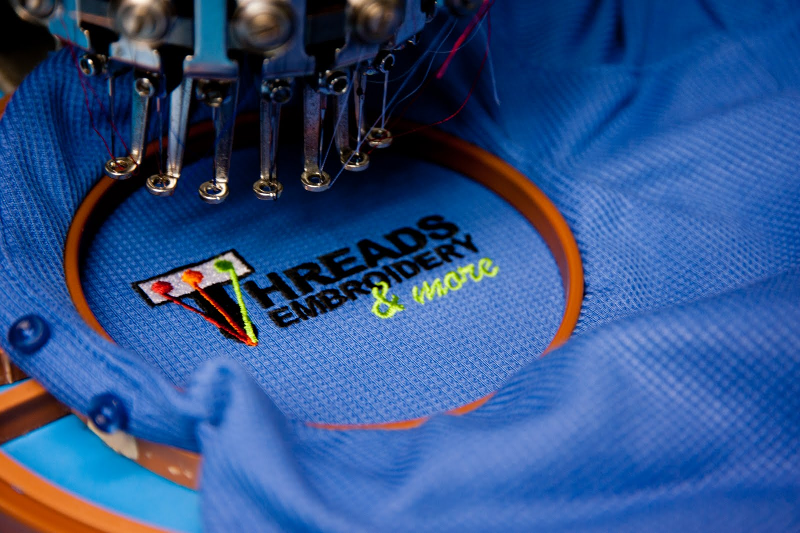 Threads embroidery more your austin embroidery for Custom embroidered polo shirts no minimum order